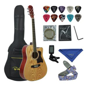 Contents of the Bailando Mahogany Dreadnought Cutaway Bundle