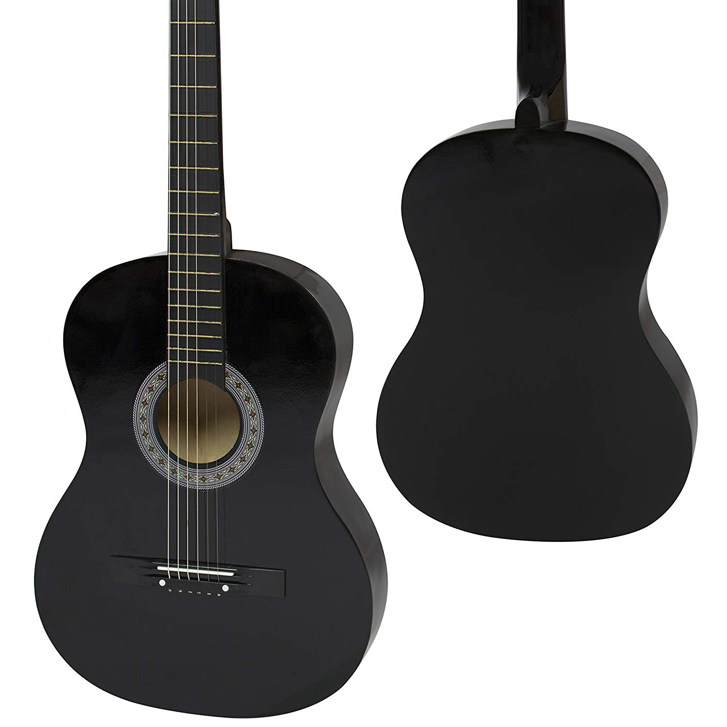 Front and backside of the Best Choice 38inch Beginner Acoustic Guitar