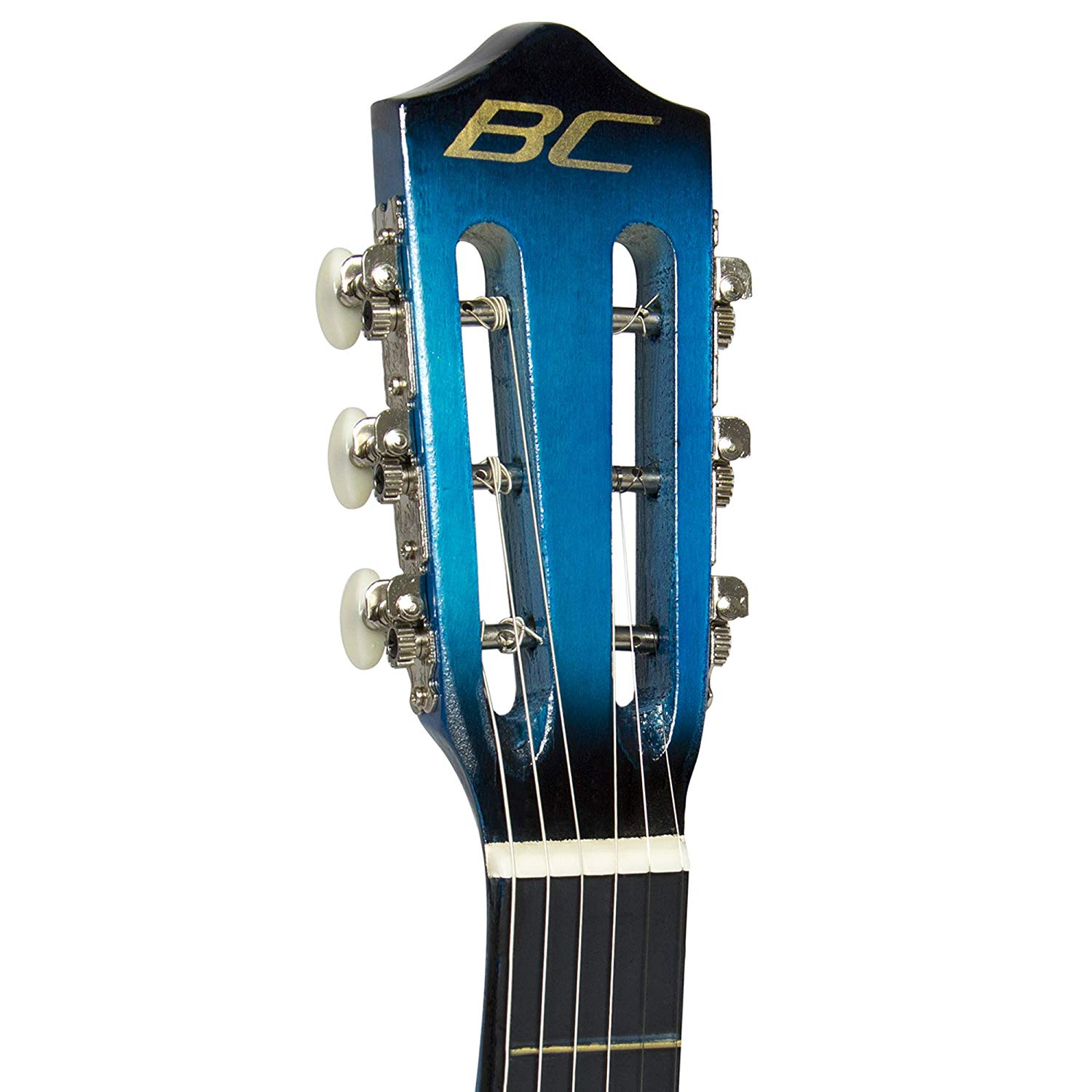Neck of the Best Choice 38inch Beginner Blue Acoustic Guitar