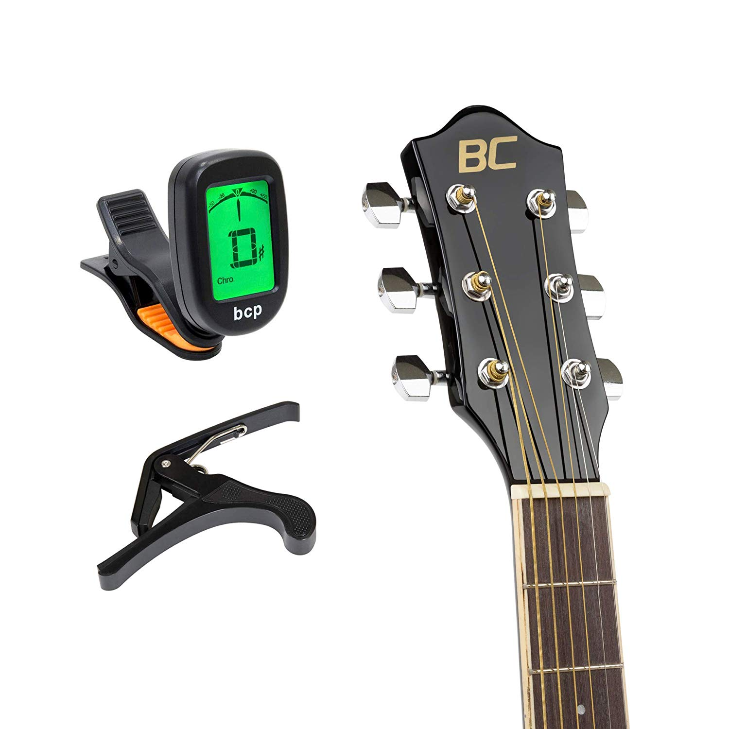 The Tuner & Capo that come with the BC Acoustic-Electric Guitar