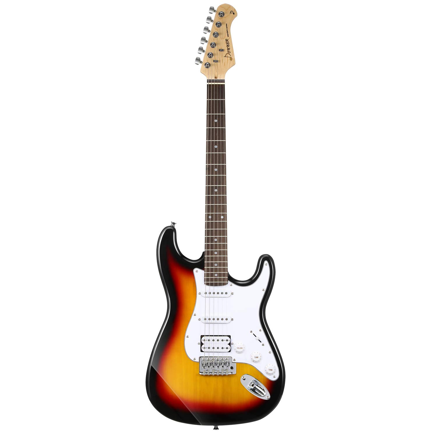 Front View of the Donner DST-1S Sunburst Electric Guitar