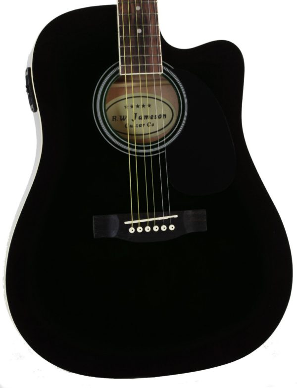 Close-up of the Black Jameson Thinline AEG