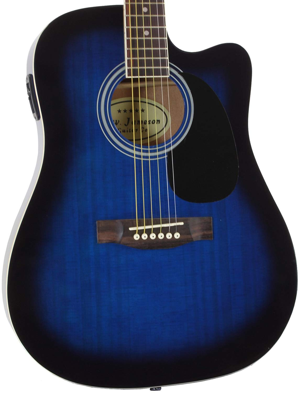 Close-up of the Blue Jameson Thinline AEG