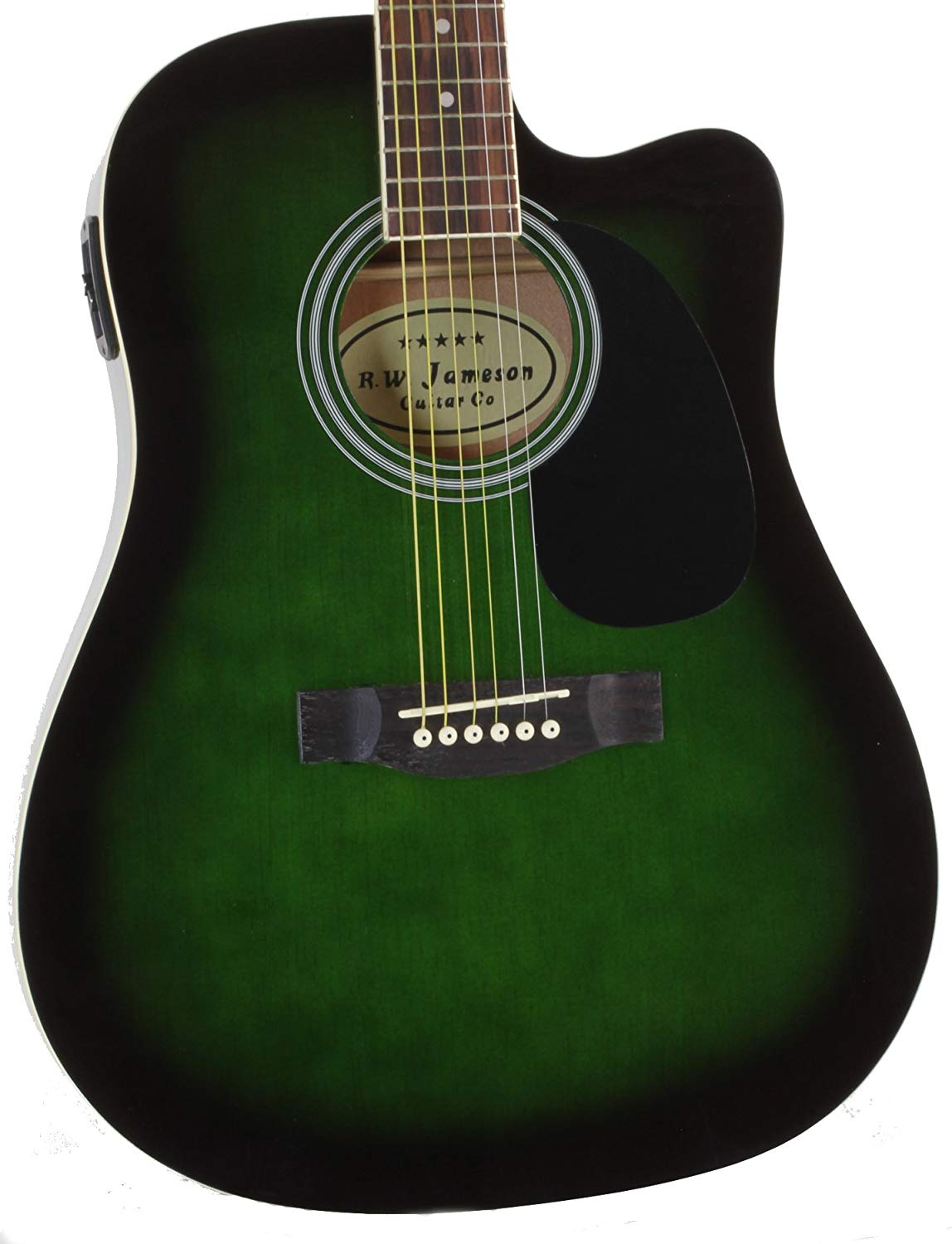 Close-up of the Green Jameson Thinline AEG