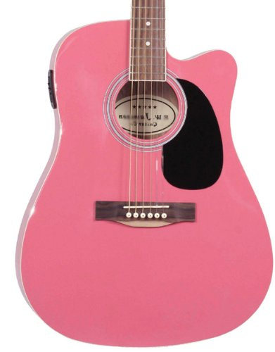 Close-up of the Pink Jameson Thinline AEG