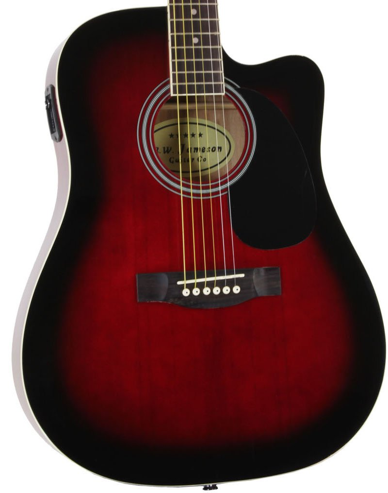 Close-up of the Red Jameson Thinline AEG