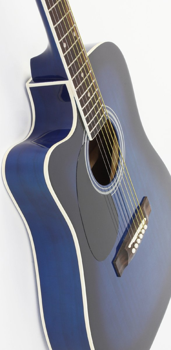 A different view of the Left Handed Blue Jameson Thinline AEG