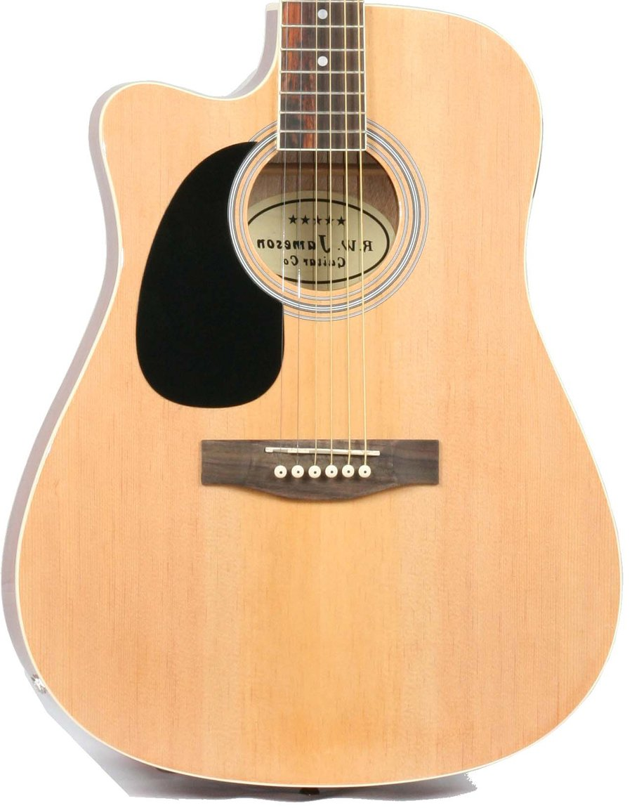 Close-up of the Left Handed Natural Jameson Thinline AEG