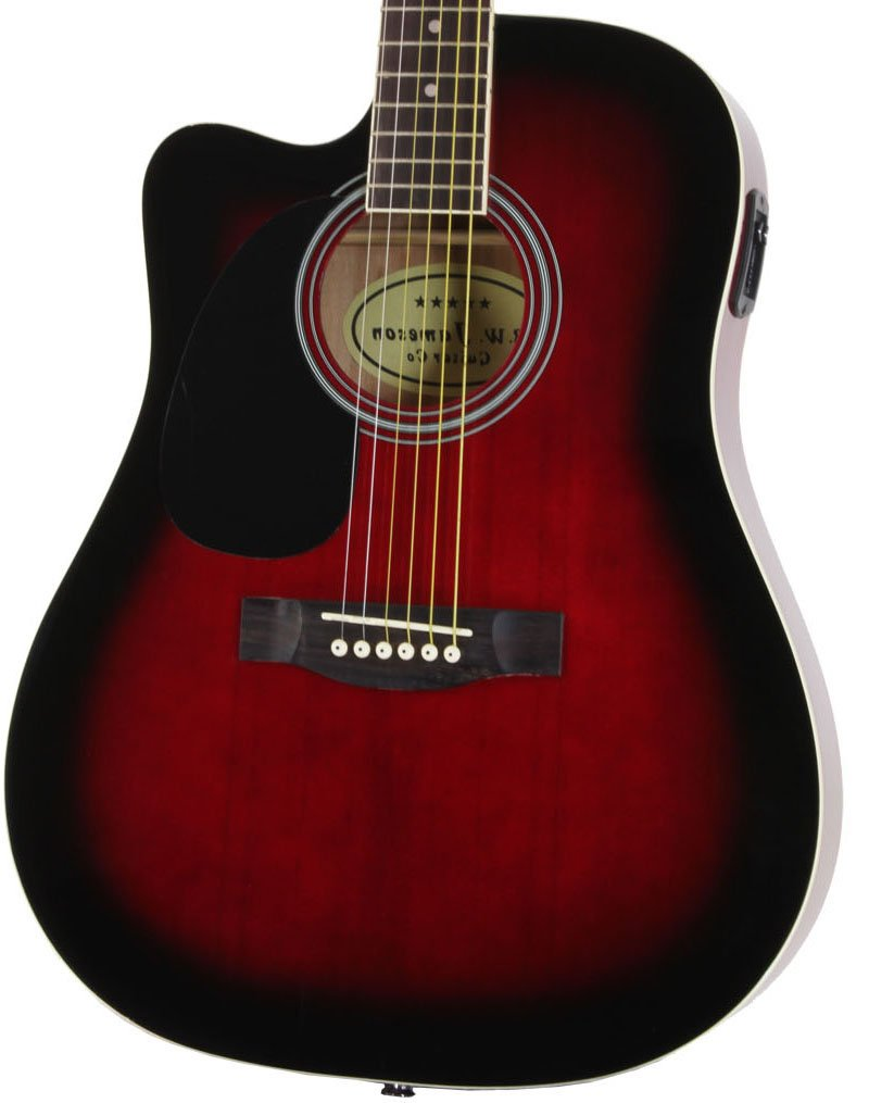 Close-up of the Left Handed Red Jameson Thinline AEG