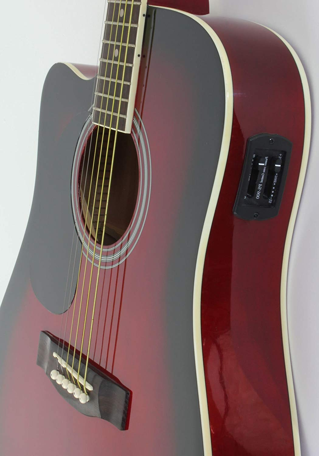 A different view of the Left Handed Red Jameson Thinline AEG