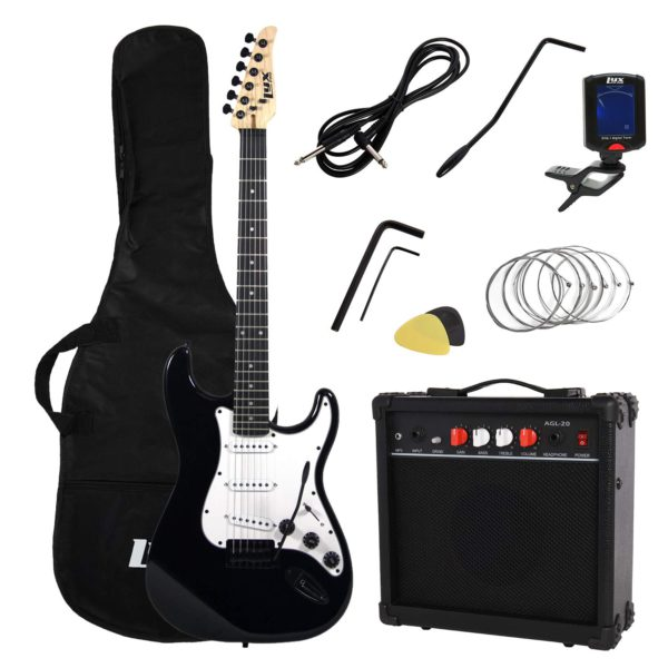 Showing all the contents of the Black LyxPro Electric Guitar