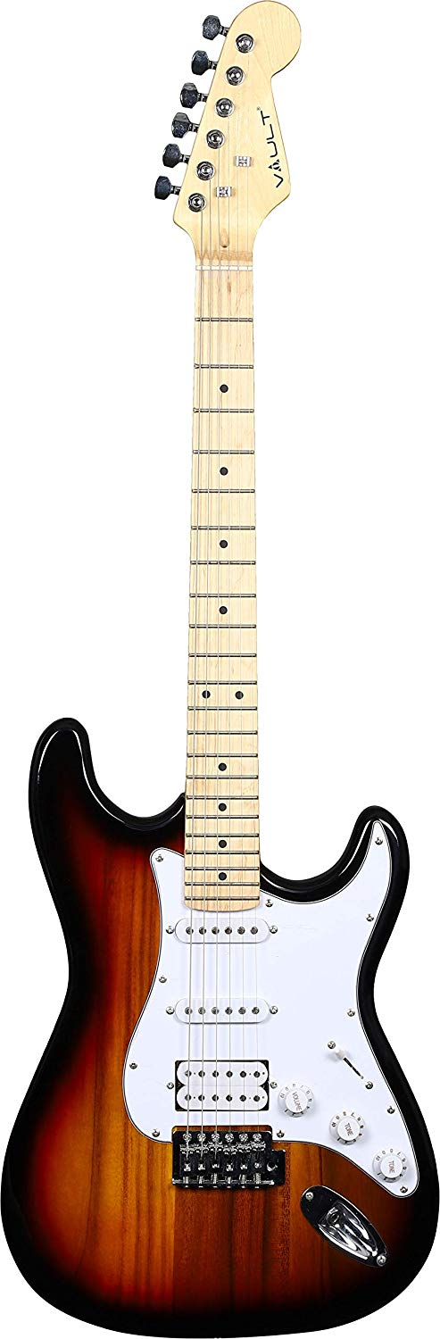 Front View of the Vault ST1-Sunburst Electric Guitar