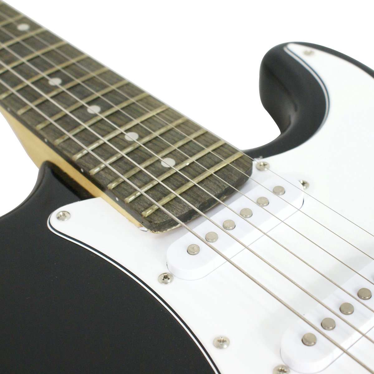 Close-up of the Black ZENY Electric Guitar