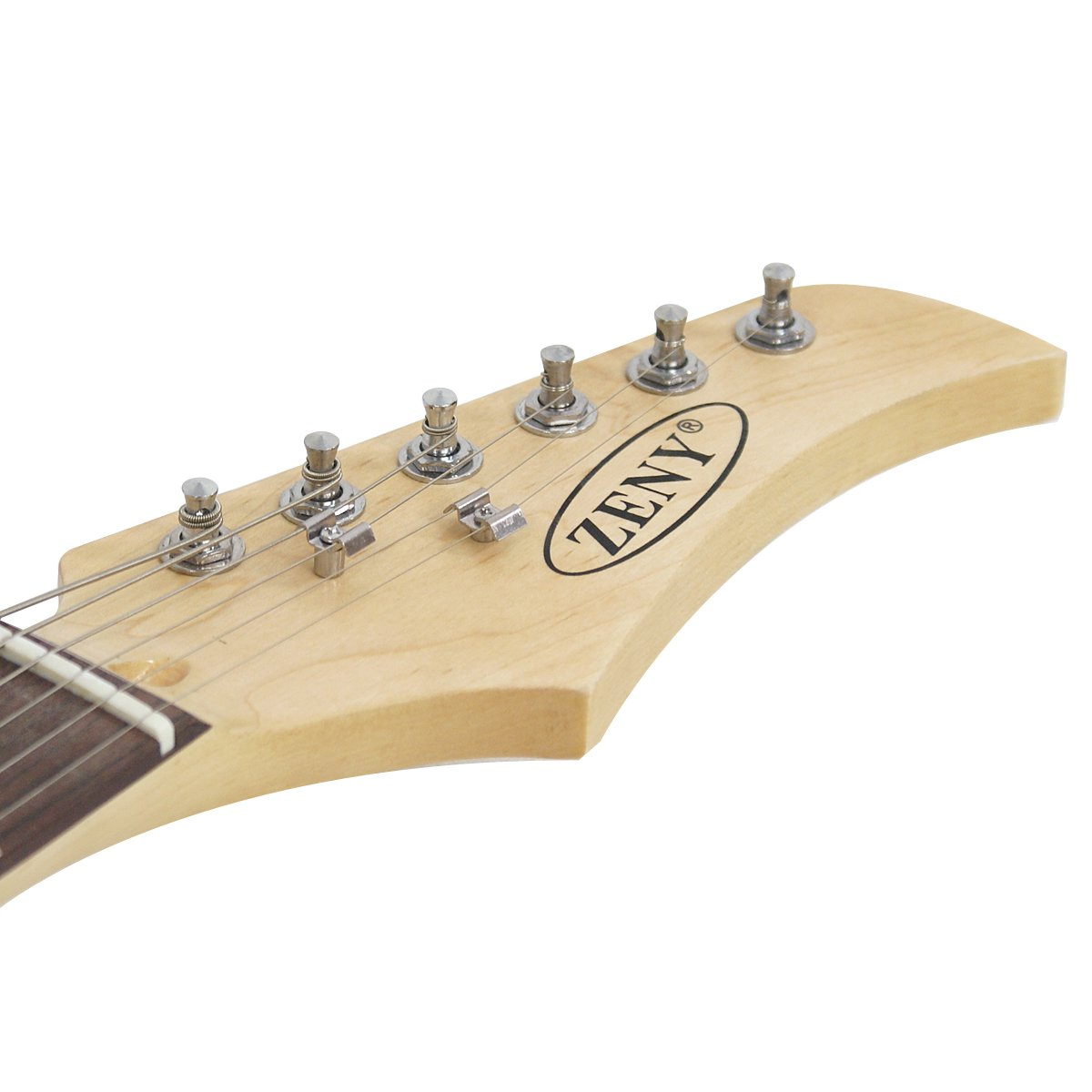 Neck of the Blue ZENY Electric Guitar
