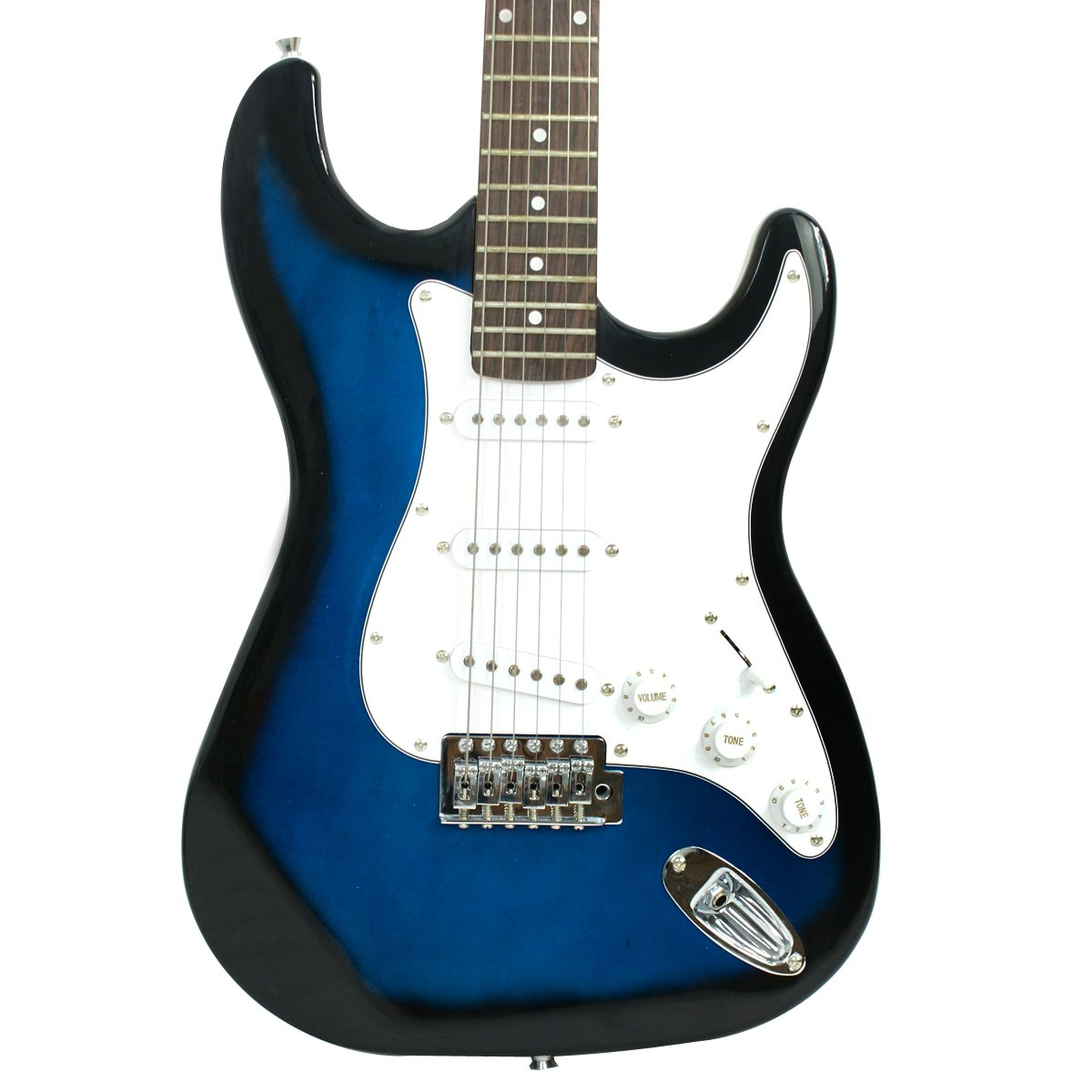 Base of the Blue ZENY Electric Guitar