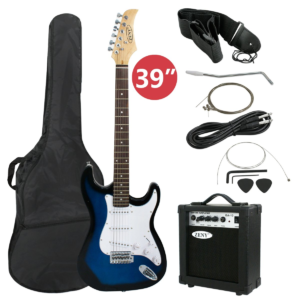 Showing all of the Contents for the Blue ZENY Electric Guitar