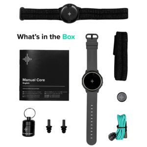 All of the Contents of The Soundbrenner Core 4-in-1 Wearable Music Tool