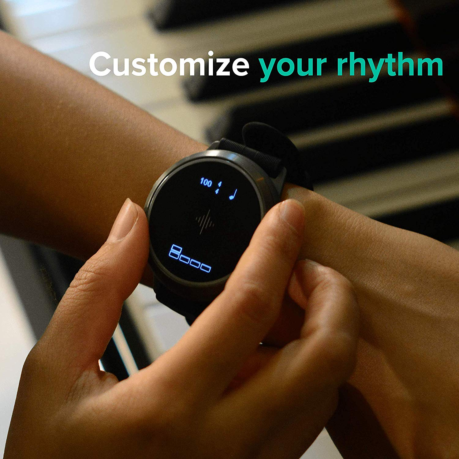 Showing the Customization for your Rhythm on The Soundbrenner Core 4-in-1 Wearable Music Tool