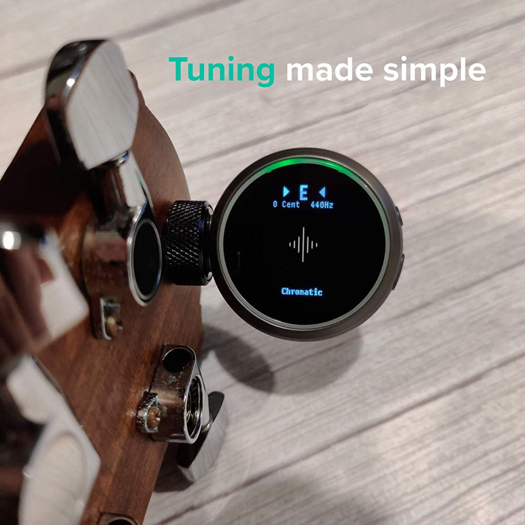Showing the Tuning capabilities on The Soundbrenner Core 4-in-1 Wearable Music Tool