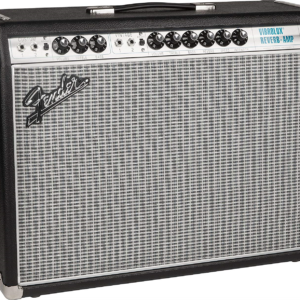 Front View of the Fender 68 Custom Vibrolux Reverb All Tube Amplifier