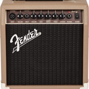 Front View of The Fender Acoustasonic 15 Acoustic Guitar Amplifier