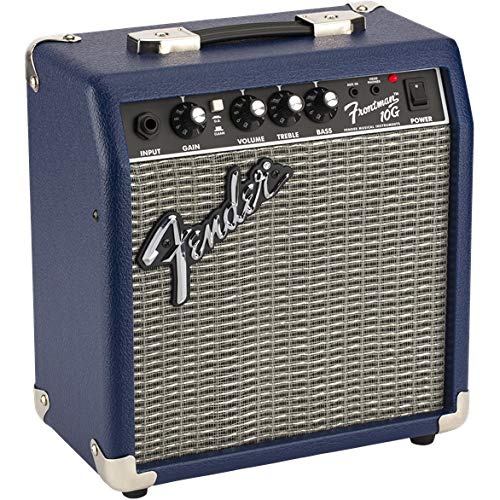 Angled View of the Fender Frontman 10G Midnight Blue Amplifier