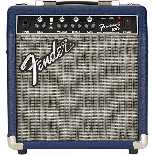 Front View of the Fender Frontman 10G Midnight Blue Amplifier