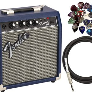 Contents of the Fender Frontman 10G Midnight Blue Amplifier Package