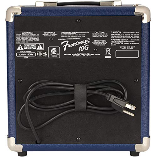 Rear View of the Fender Frontman 10G Midnight Blue Amplifier
