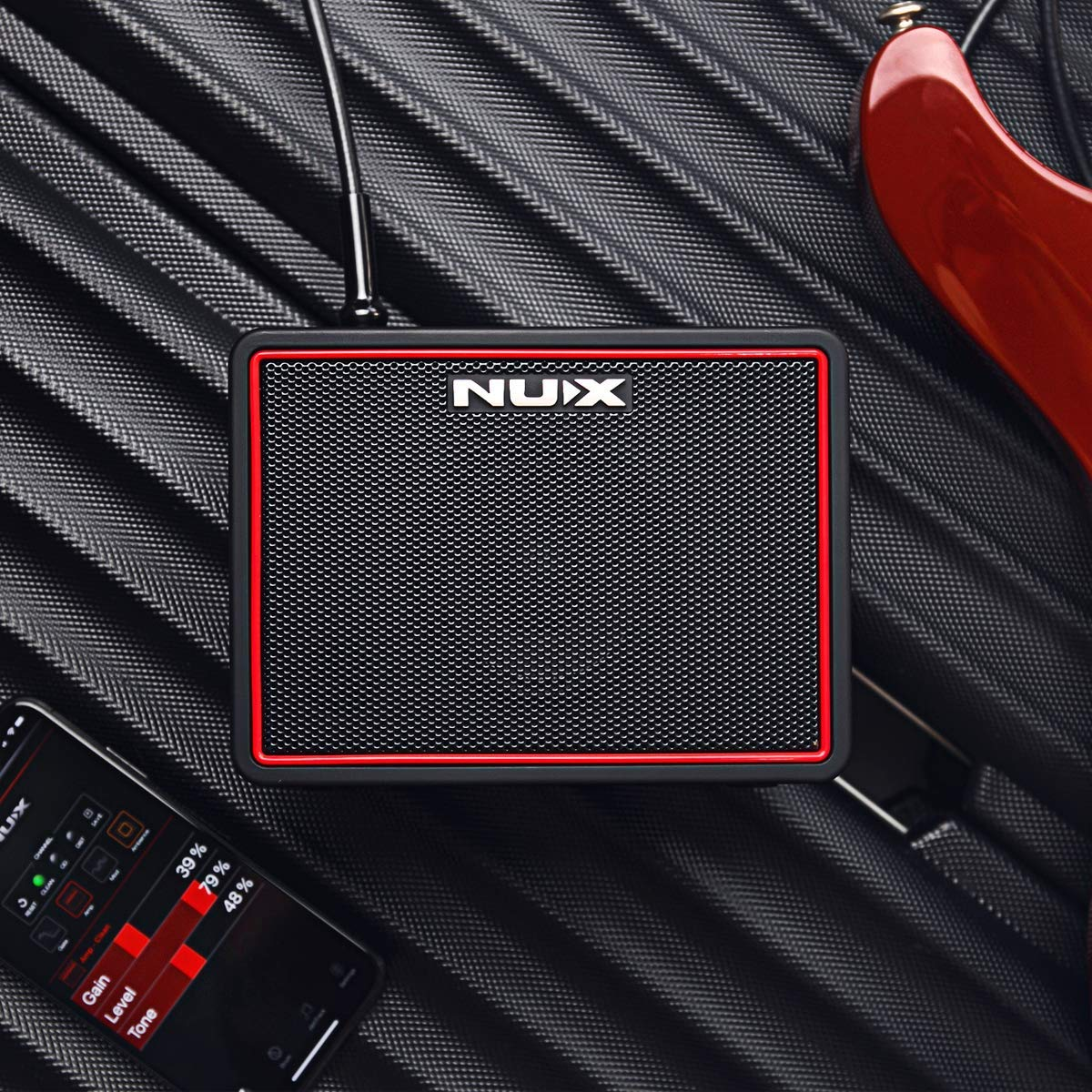 The NUX Mighty Lite BT Mini Amplifier laying flat