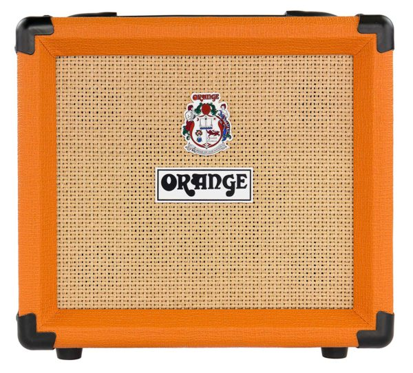 Front View of The 12 Watt ORANGE Crush Amplifier
