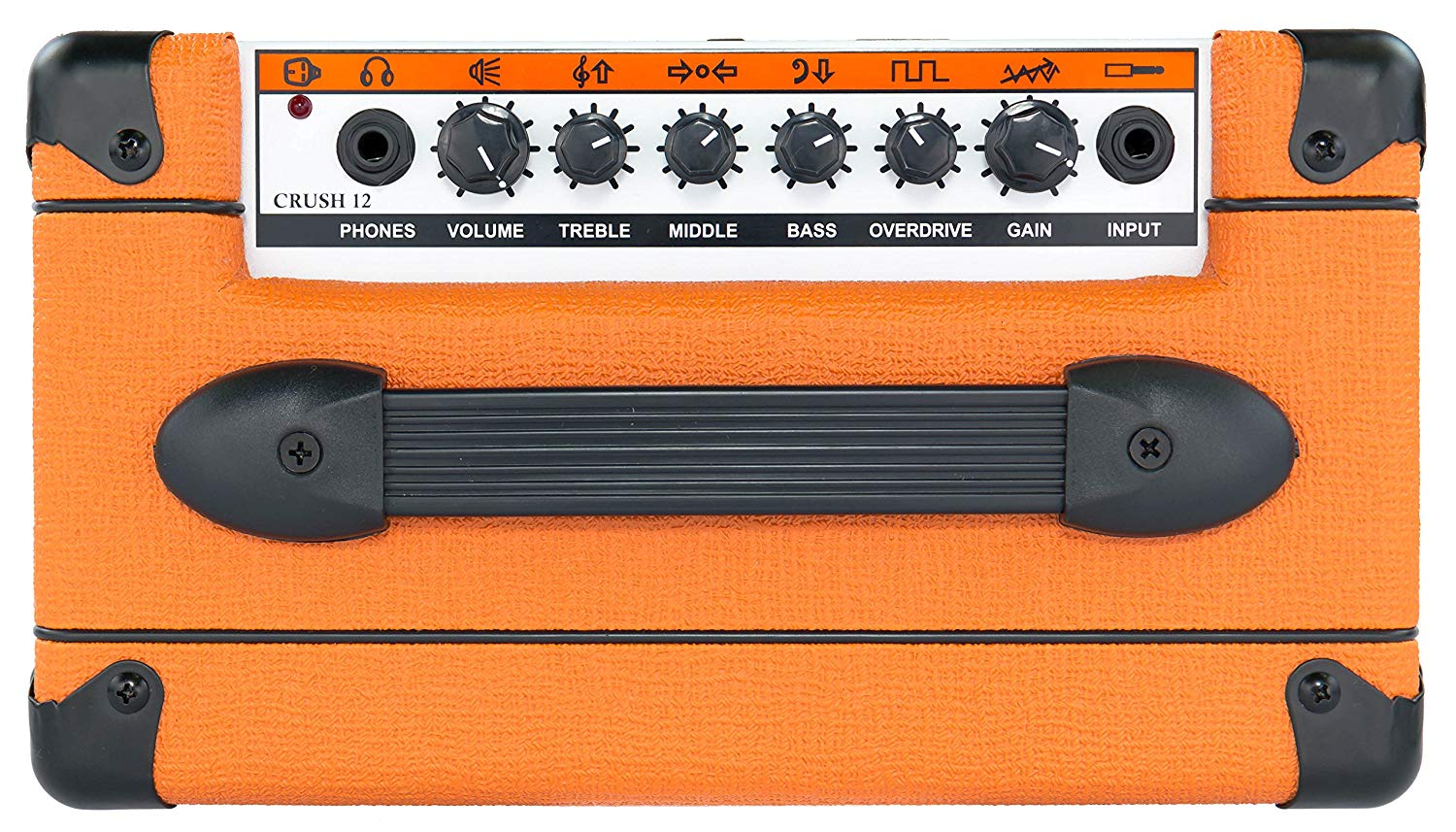 Control Knobs on The 12 Watt ORANGE Crush Amplifier