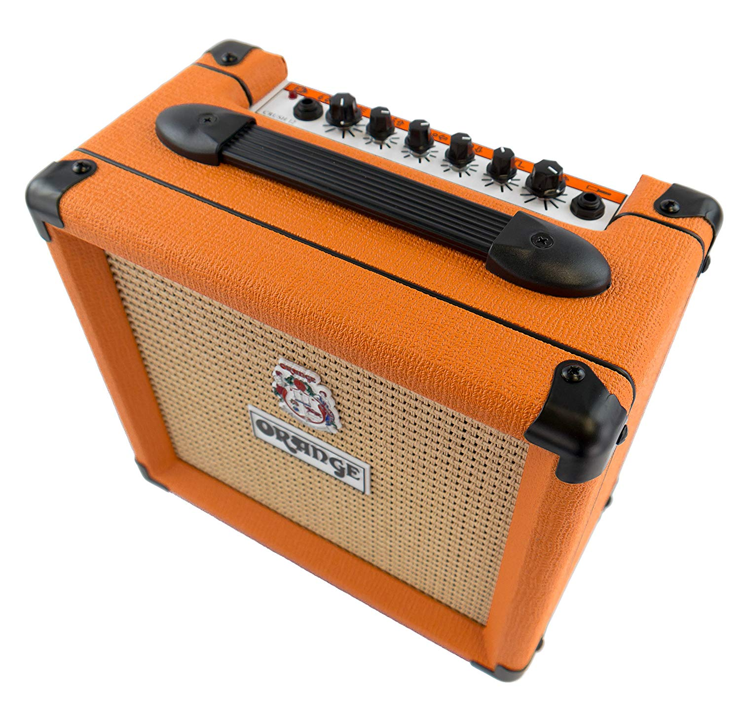 Top View if The 12 Watt ORANGE Crush Amplifier