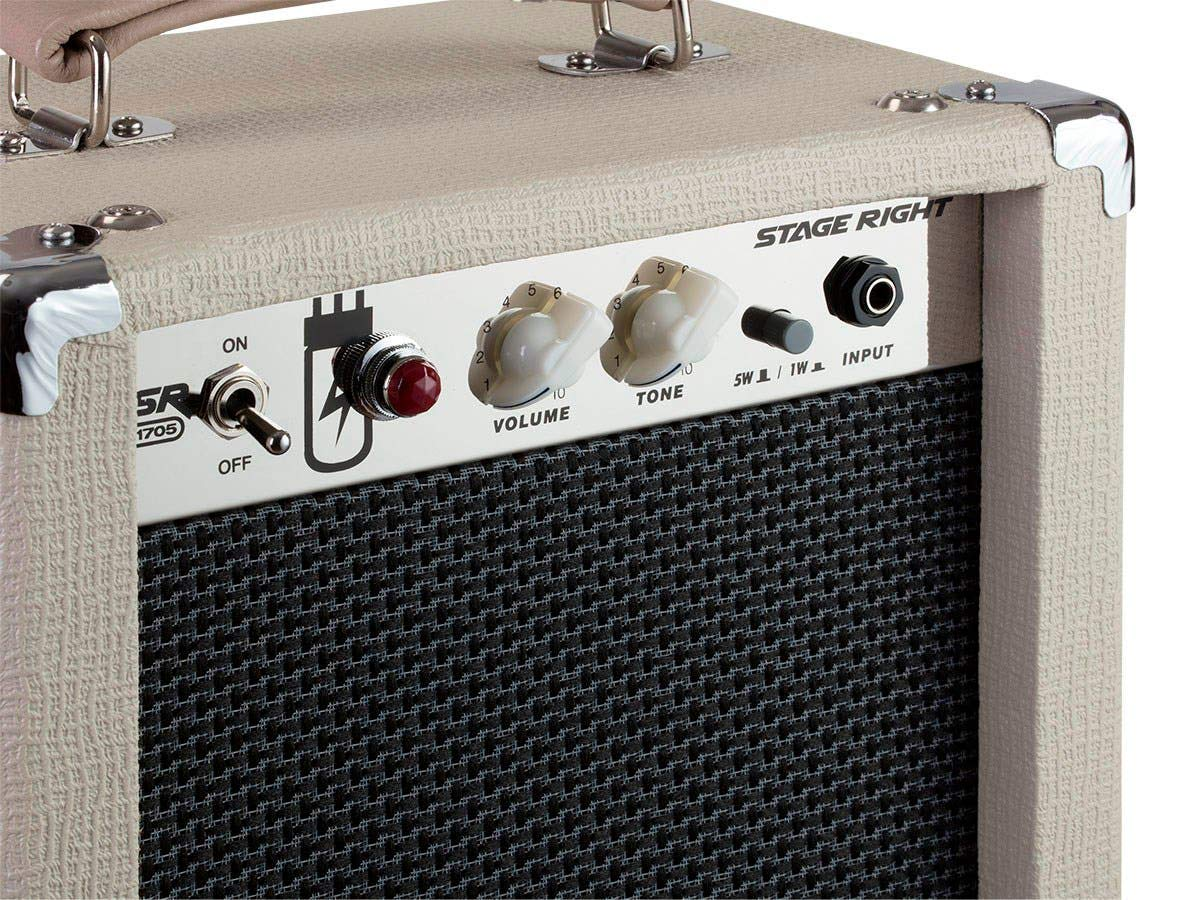 Closeup of the Front of the Stage Right 5W Combo Tube Amplifier