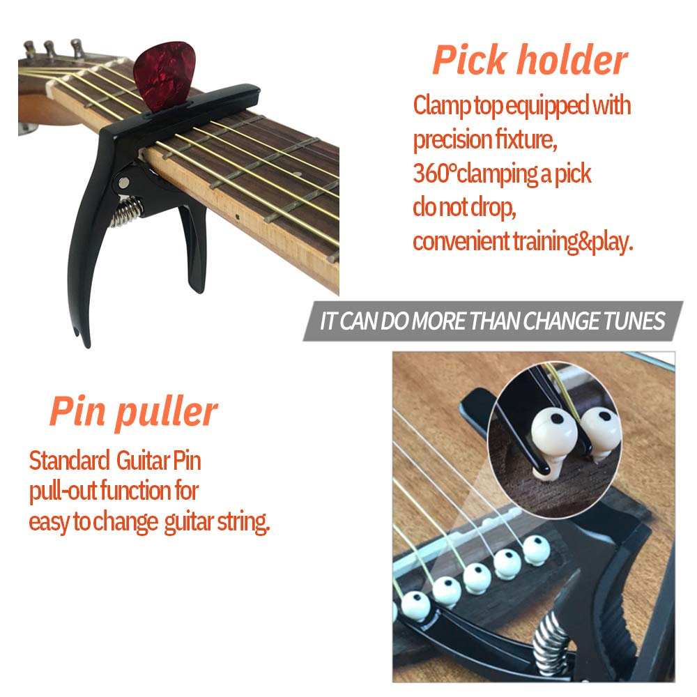 A Closer Look of the Features of The Tanmus 3 In 1 Zinc Metal Capo
