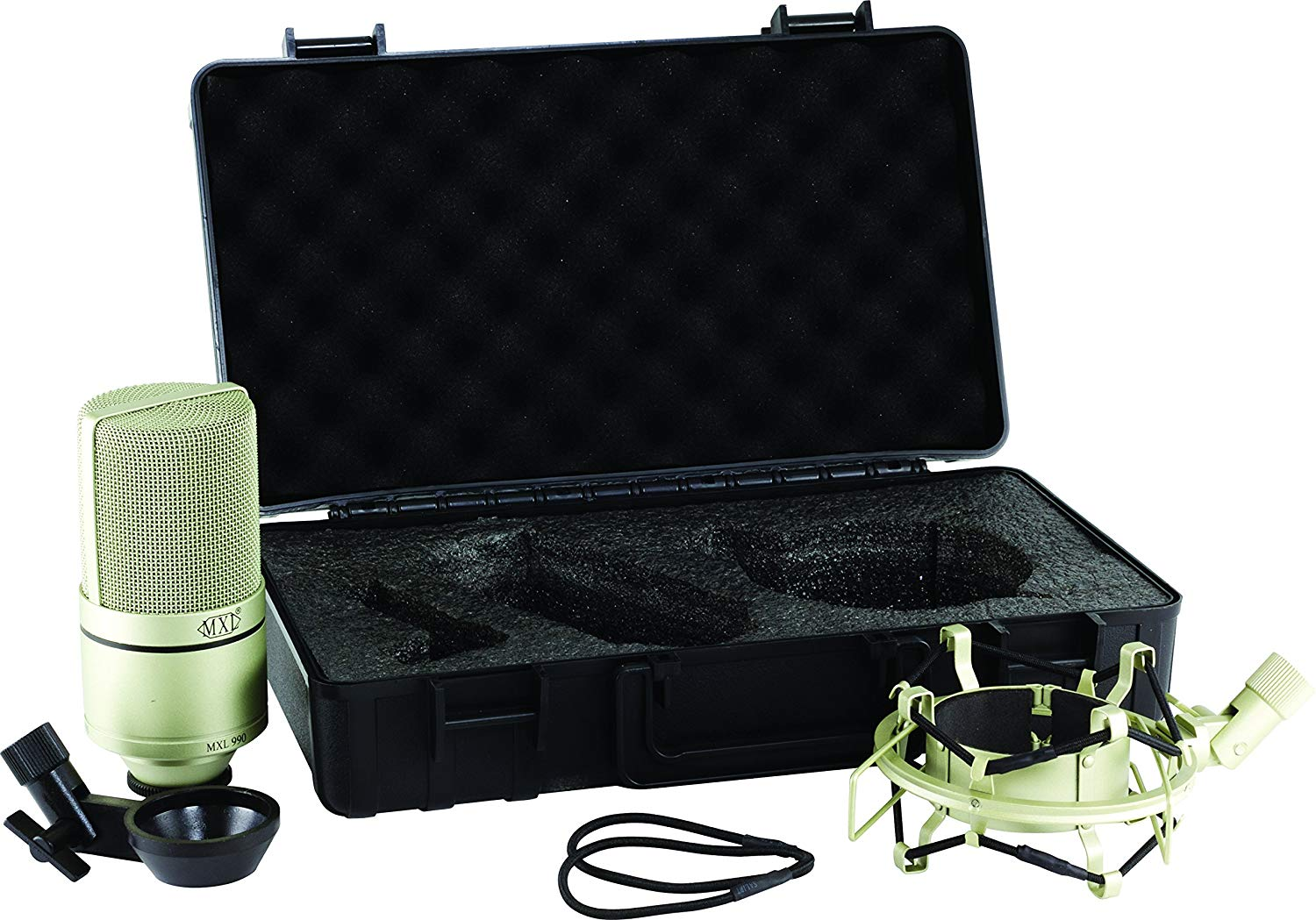 Contents of The MXL990 XLR Condenser Mic Package