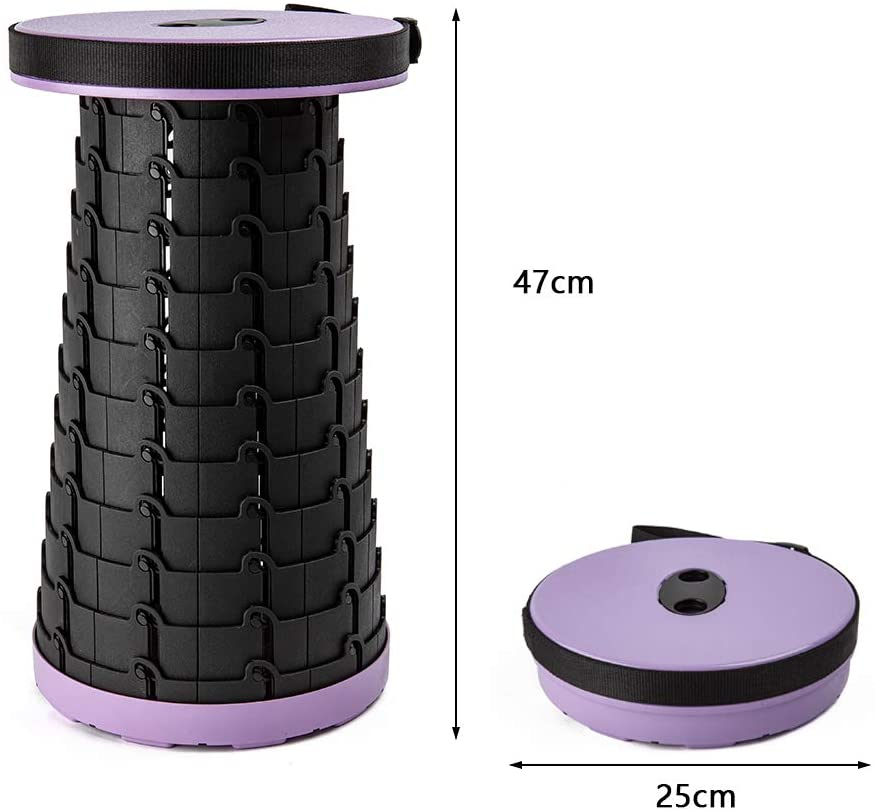 The Purple Version of The Antarctica Portable Retractable Stool