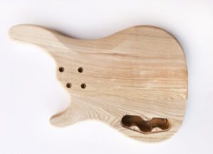 Rear View of The 4 String Ash Build Your Own Bass Guitar Kit