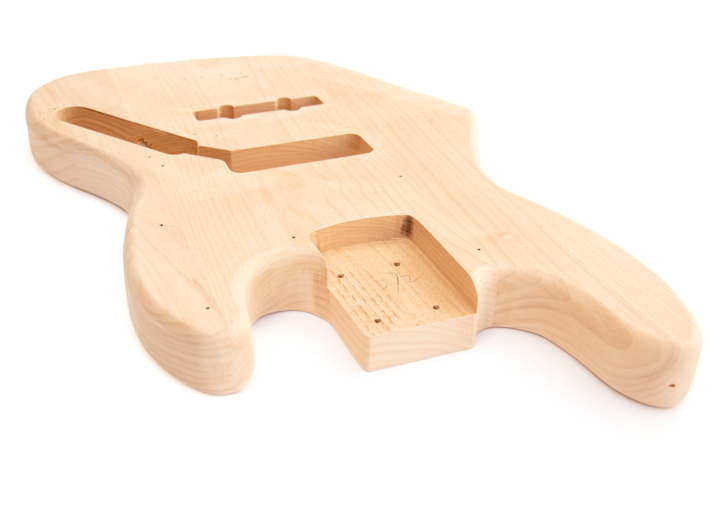 Angled View of The 5 String Build Your Own J Bass Kit