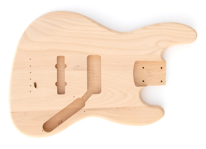Front View of The 5 String Build Your Own J Bass Kit