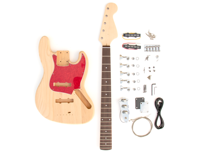 Everything that Comes With The 5 String Build Your Own J Bass Kit