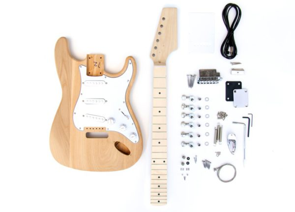 Everything That Comes With The Ash Maple ST Build Your Own Guitar Kit