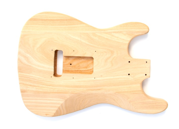 Rear View of The Ash Maple ST Build Your Own Guitar Kit