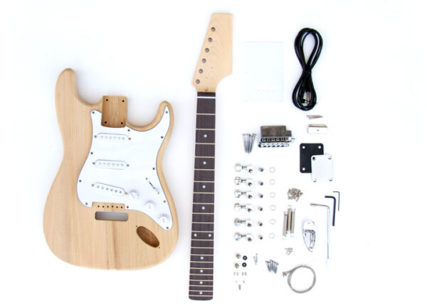 Everything that come's in The Ash ST Build your own Electric Guitar Kit