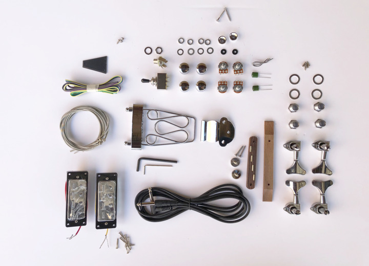A Closer Look at the Contents in The Big Body Build Your Own Hollow Body Bass Guitar Kit