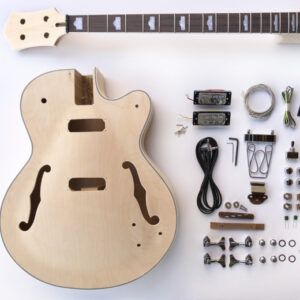 Everything that Comes With The Big Body Build Your Own Hollow Body Bass Guitar Kit