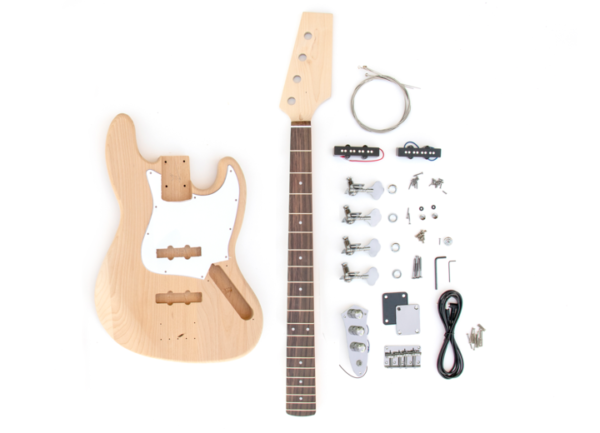 Everything that Comes With Build Your Own J Bass Guitar Kit