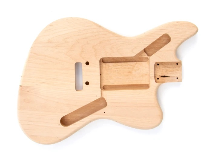 Front View of The Jaguar Style Build Your Own Guitar Kit