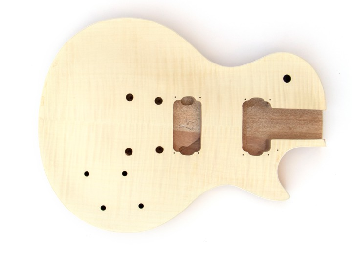 Front View of the Body on the LP-12 String Build Your Own Guitar Kit