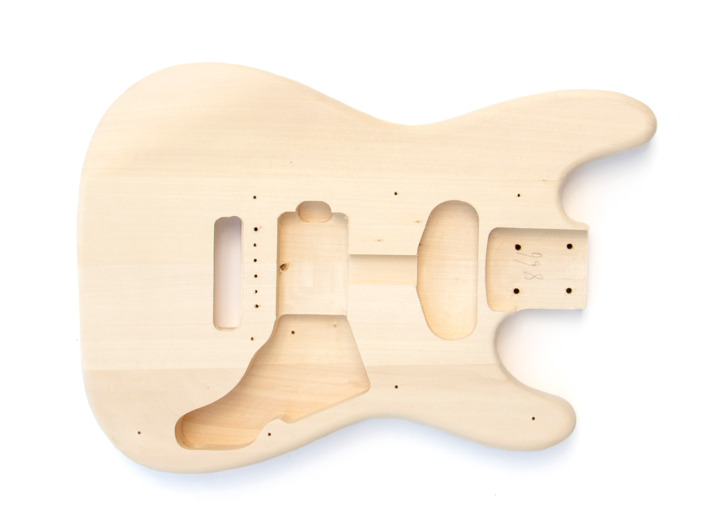 Front View of The Mini ST Build Your Own Electric Guitar Kit
